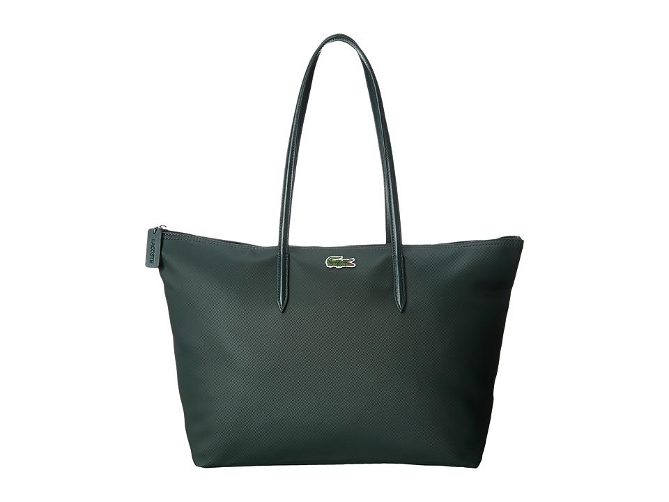 Lacoste - L.12.12 Concept Large Shopping Bag (Deep Forest) Handbags