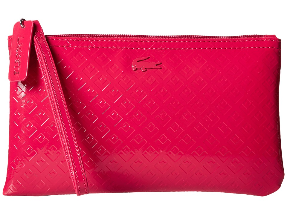 Lacoste - L.12.12 Glossy Clutch Bag (Cerise) Clutch Handbags