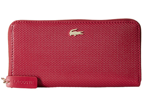 Lacoste - Chantaco Large Zip Wallet (Chili Pepper Peacoat) Wallet Handbags