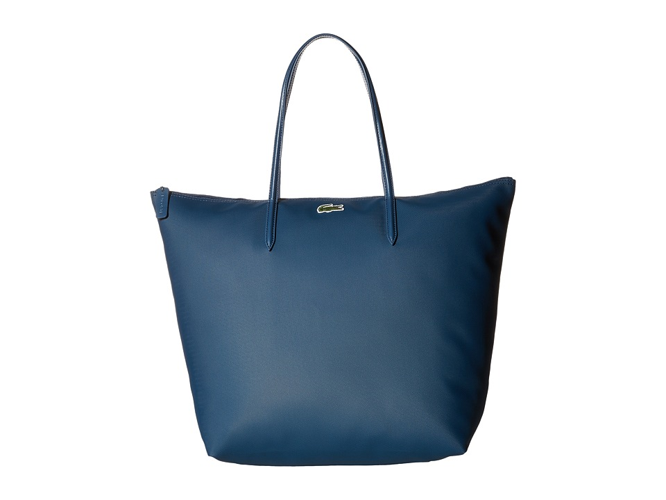 Lacoste - L1212 Concept Travel Shopping Bag (Teal Blue) Tote Handbags