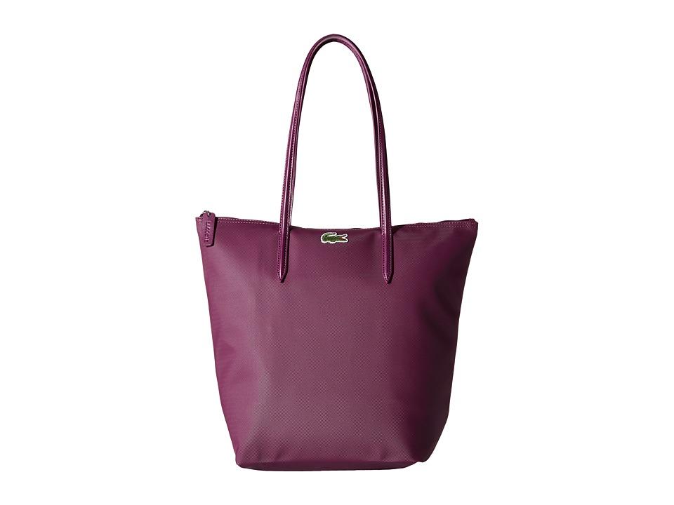Lacoste - L.12.12 Concept M1 Vertical Tote Bag (Dark Purple) Tote Handbags