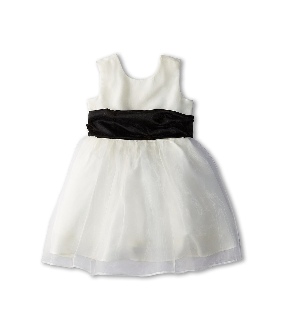 Us Angels - Sleeveless Organza Dress (Infant) (Black) Girl's Clothing