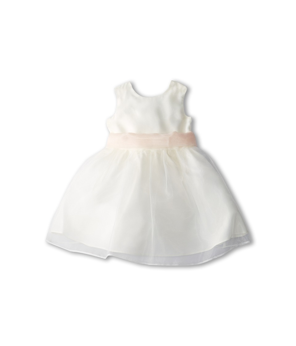 Us Angels - Sleeveless Organza Dress (Infant) (Blush) Girl's Clothing