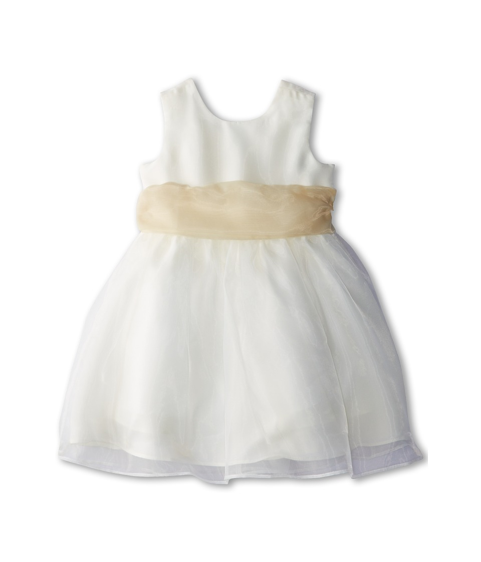 Us Angels - Sleeveless Organza Dress (Infant) (Champagne) Girl's Clothing