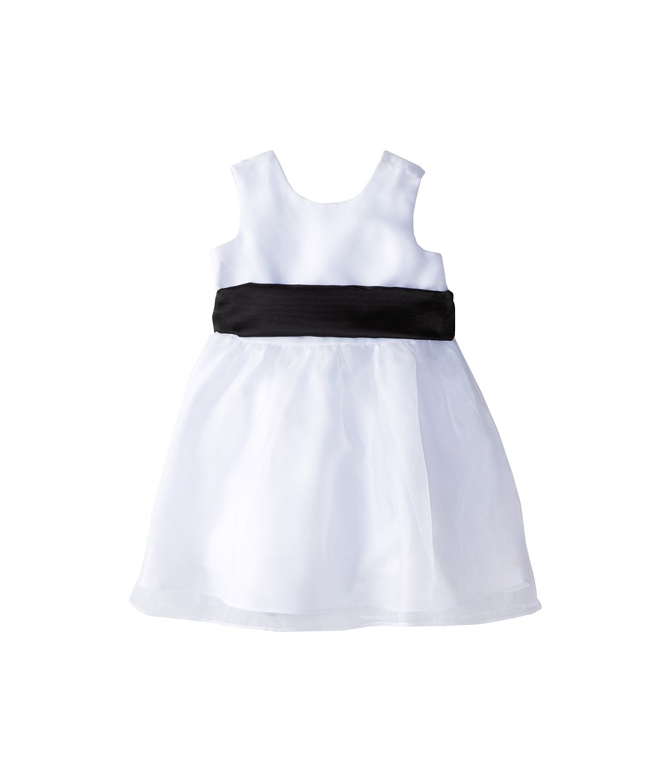 Us Angels - Sleeveless Organza Dress (Infant) (Black 1) Girl's Clothing