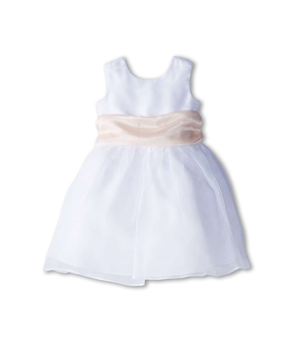 Us Angels - Sleeveless Organza Dress (Infant) (Blush 1) Girl's Clothing