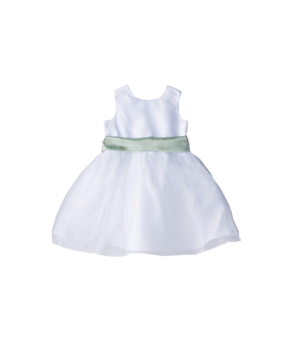 Us Angels - Sleeveless Organza Dress (Infant) (Lettuce Green) Girl