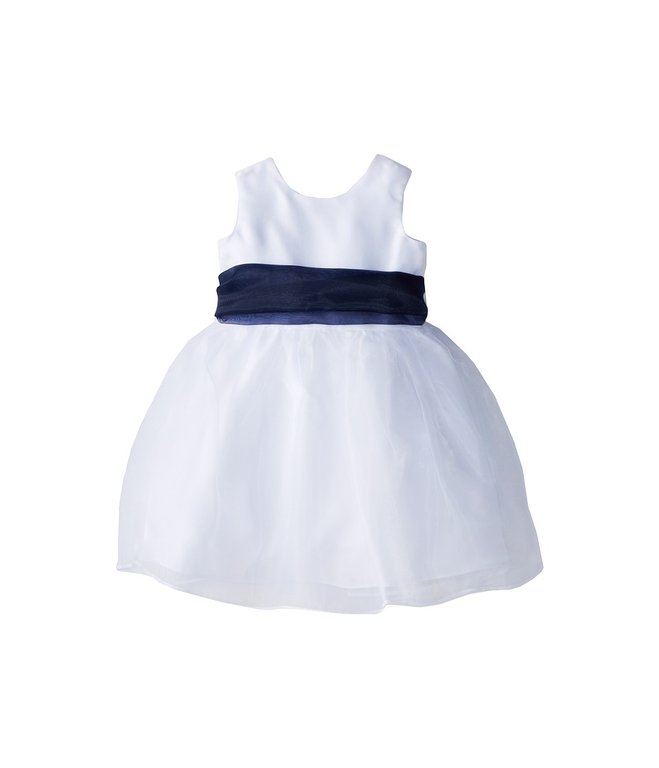 Us Angels - Sleeveless Organza Dress (Infant) (Navy) Girl's Clothing