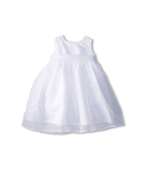 Us Angels - Sleeveless Organza Dress (Infant) (White 1) Girl