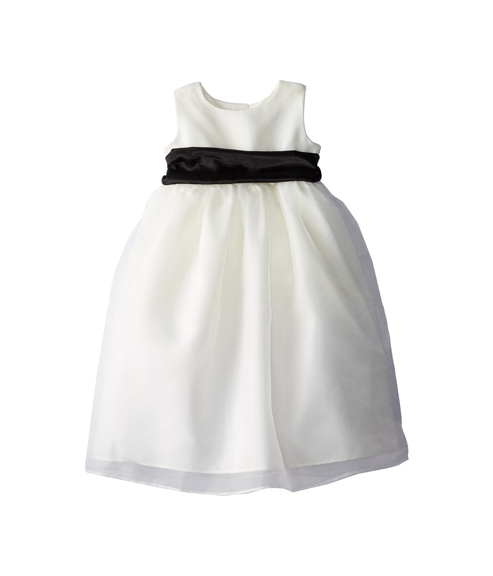 Us Angels - Sleeveless Organza Dress (Toddler) (Black) Girl's Clothing