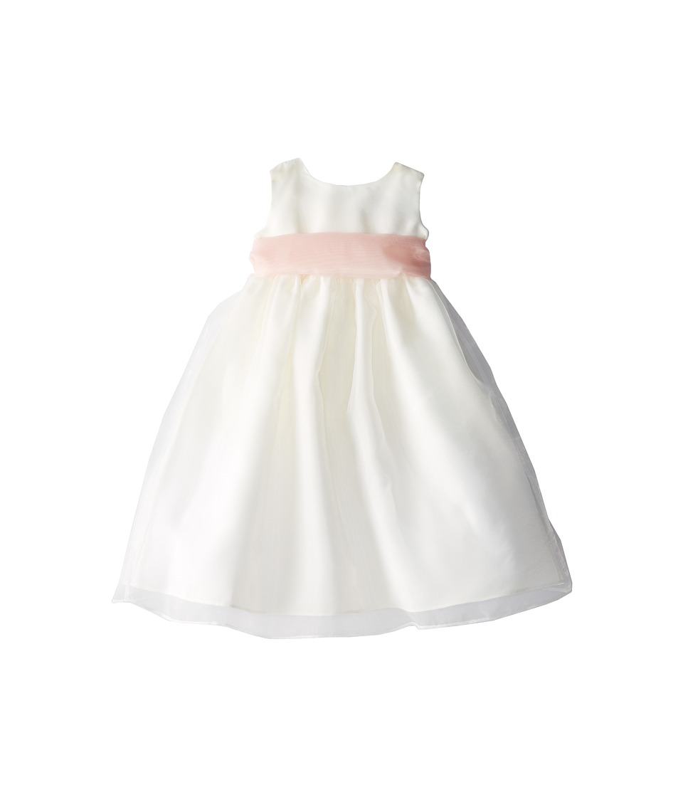 Us Angels - Sleeveless Organza Dress (Toddler) (Blush Pink) Girl's Clothing