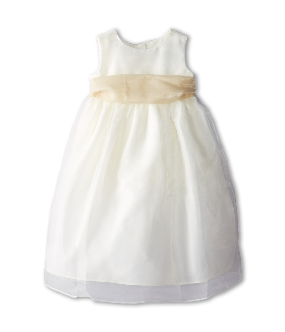 Us Angels - Sleeveless Organza Dress (Toddler) (Champagne) Girl's Clothing