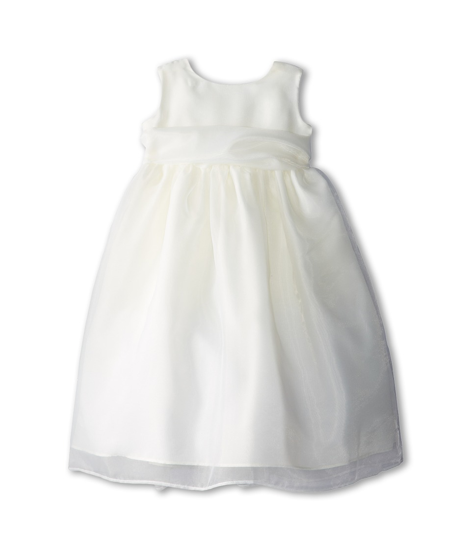Us Angels - Sleeveless Organza Dress (Toddler) (Ivory 1) Girl's Clothing