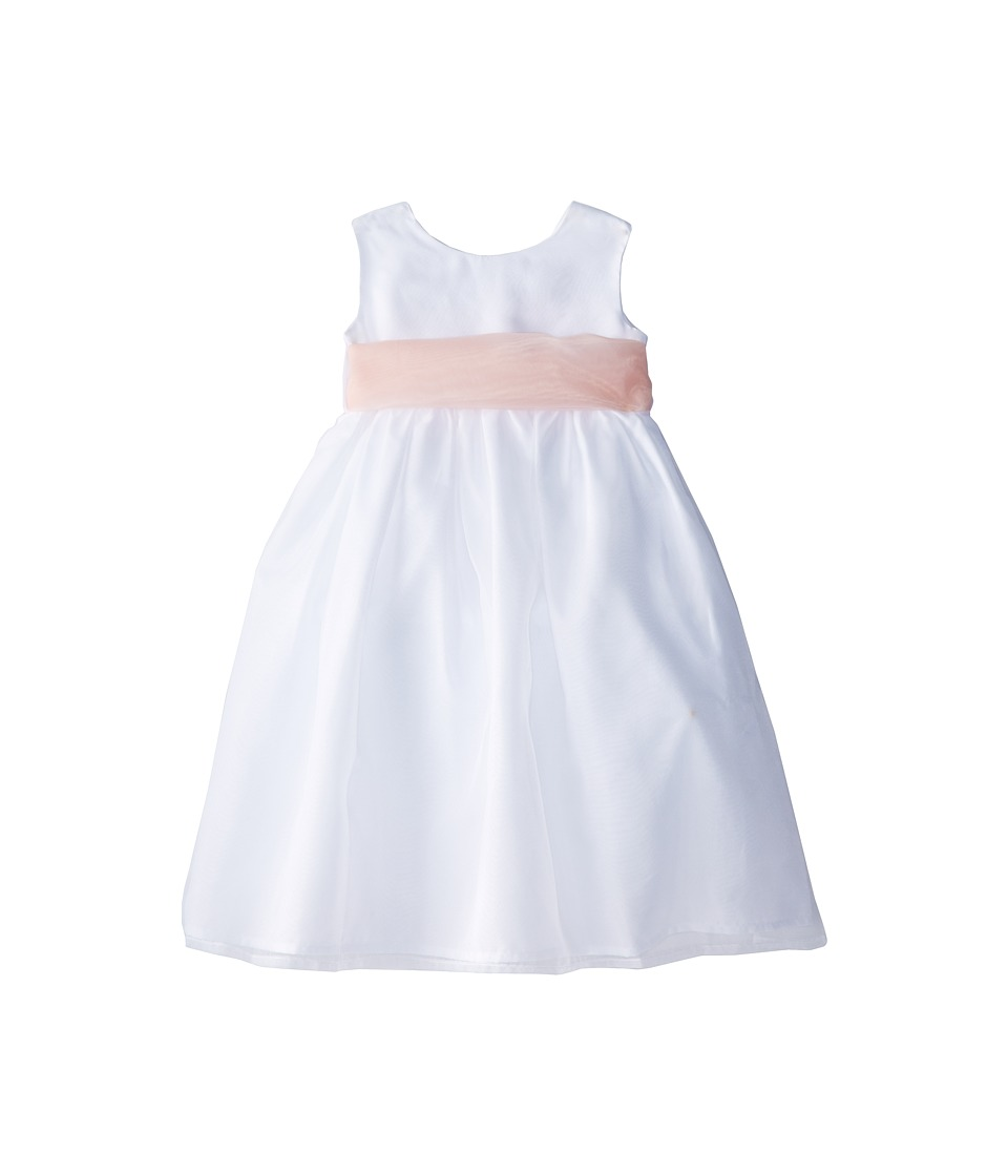 Us Angels - Sleeveless Organza Dress (Toddler) (Blush Pink 1) Girl's Clothing