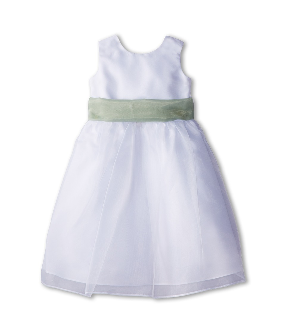 Us Angels - Sleeveless Organza Dress (Toddler) (Lettuce Green) Girl