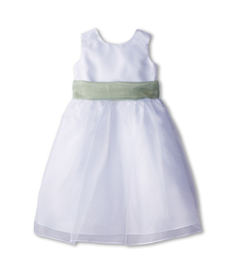 Us Angels - Sleeveless Organza Dress (Toddler) (Lettuce Green) Girl's Clothing