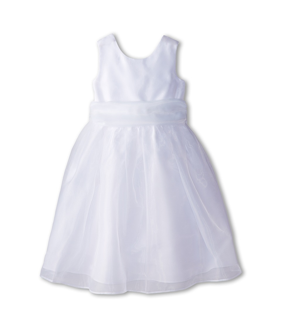 Us Angels - Sleeveless Organza Dress (Toddler) (White 1) Girl's Clothing