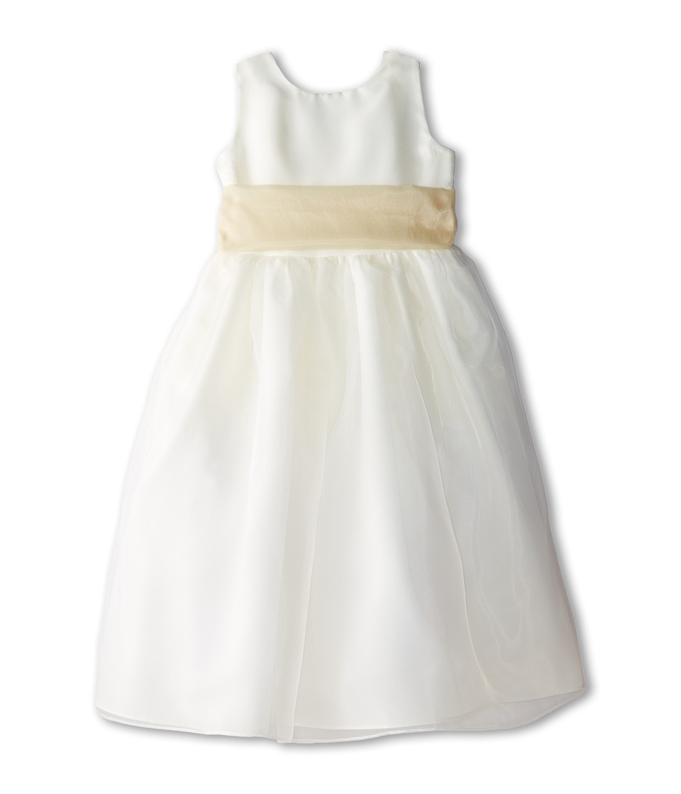 Us Angels - Sleeveless Organza Dress (Little Kids) (Champagne) Girl's Clothing