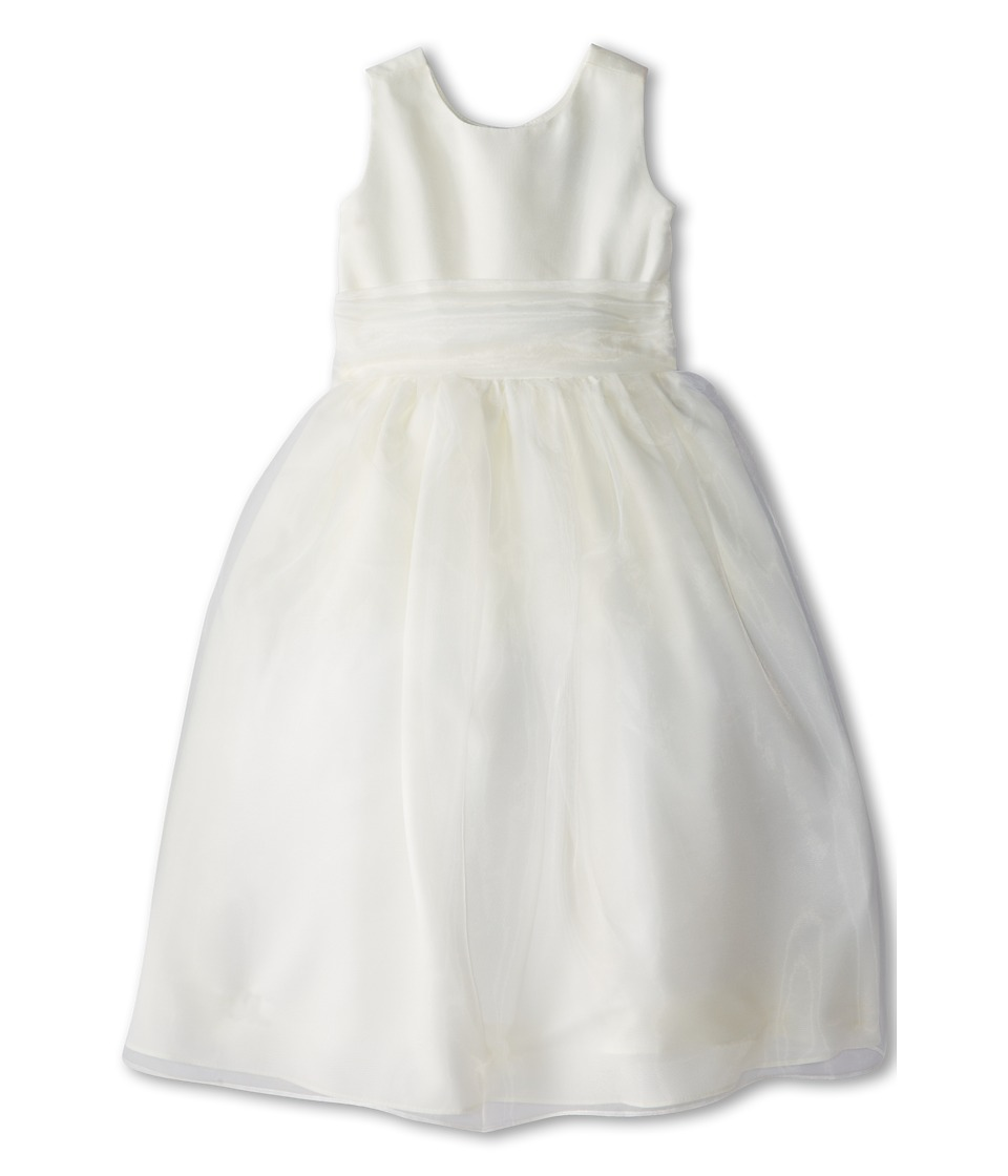 Us Angels - Sleeveless Organza Dress (Little Kids) (Ivory 1) Girl's Clothing