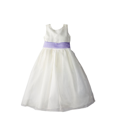 Us Angels - Sleeveless Organza Dress (Little Kids) (Lilac) Girl