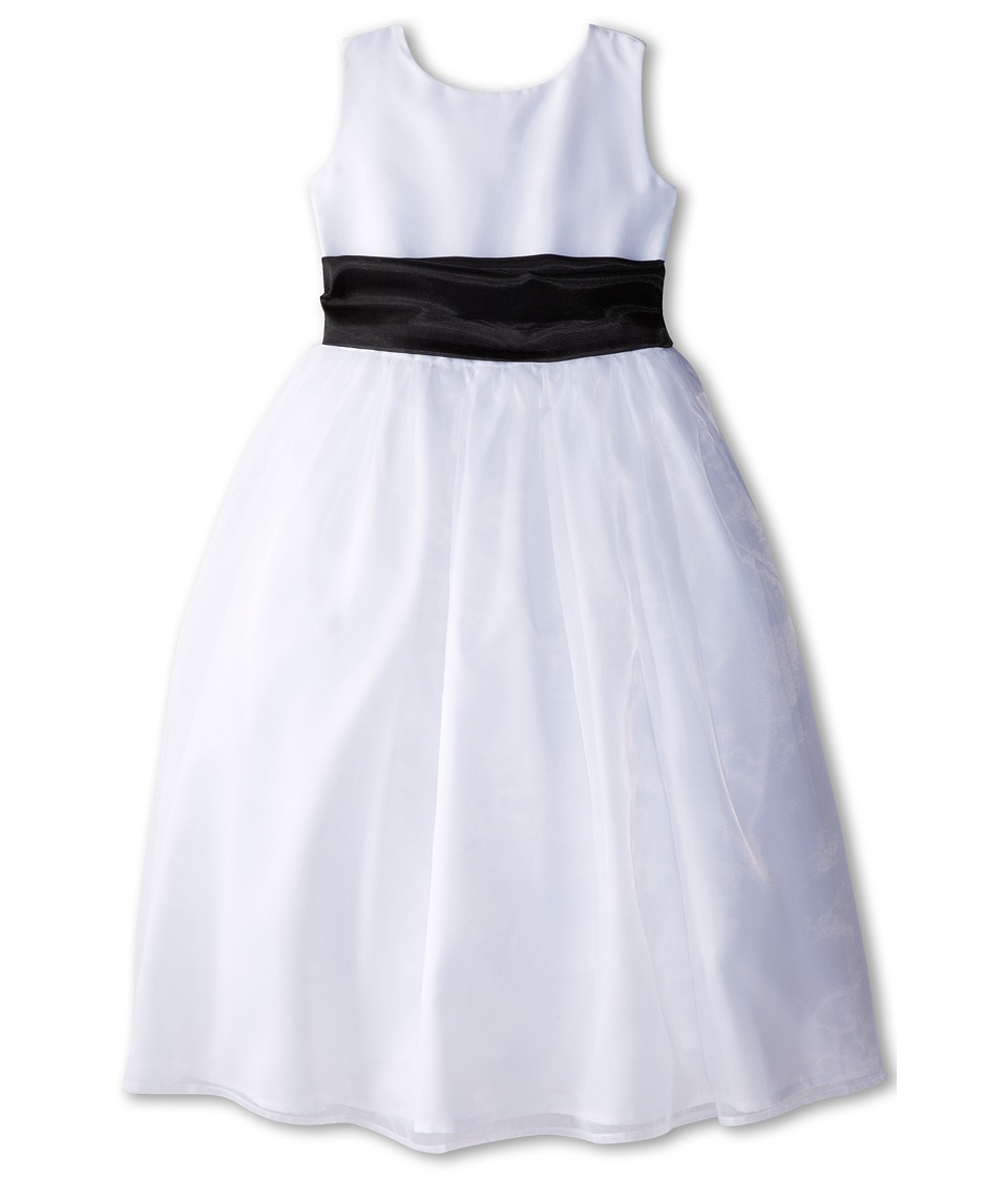 Us Angels - Sleeveless Organza Dress (Little Kids) (Black 1) Girl's Clothing