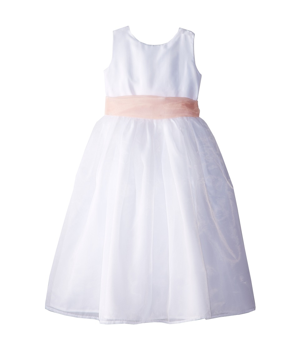 Us Angels - Sleeveless Organza Dress (Little Kids) (Blush Pink 1) Girl's Clothing
