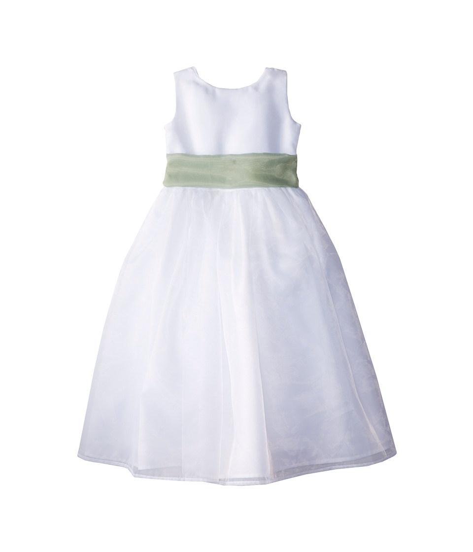Us Angels - Sleeveless Organza Dress (Little Kids) (Lettuce Green) Girl