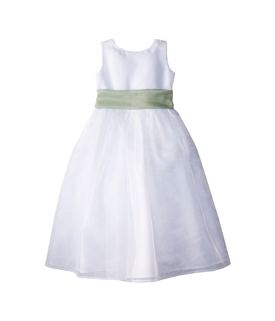 Us Angels - Sleeveless Organza Dress (Little Kids) (Lettuce Green) Girl's Clothing