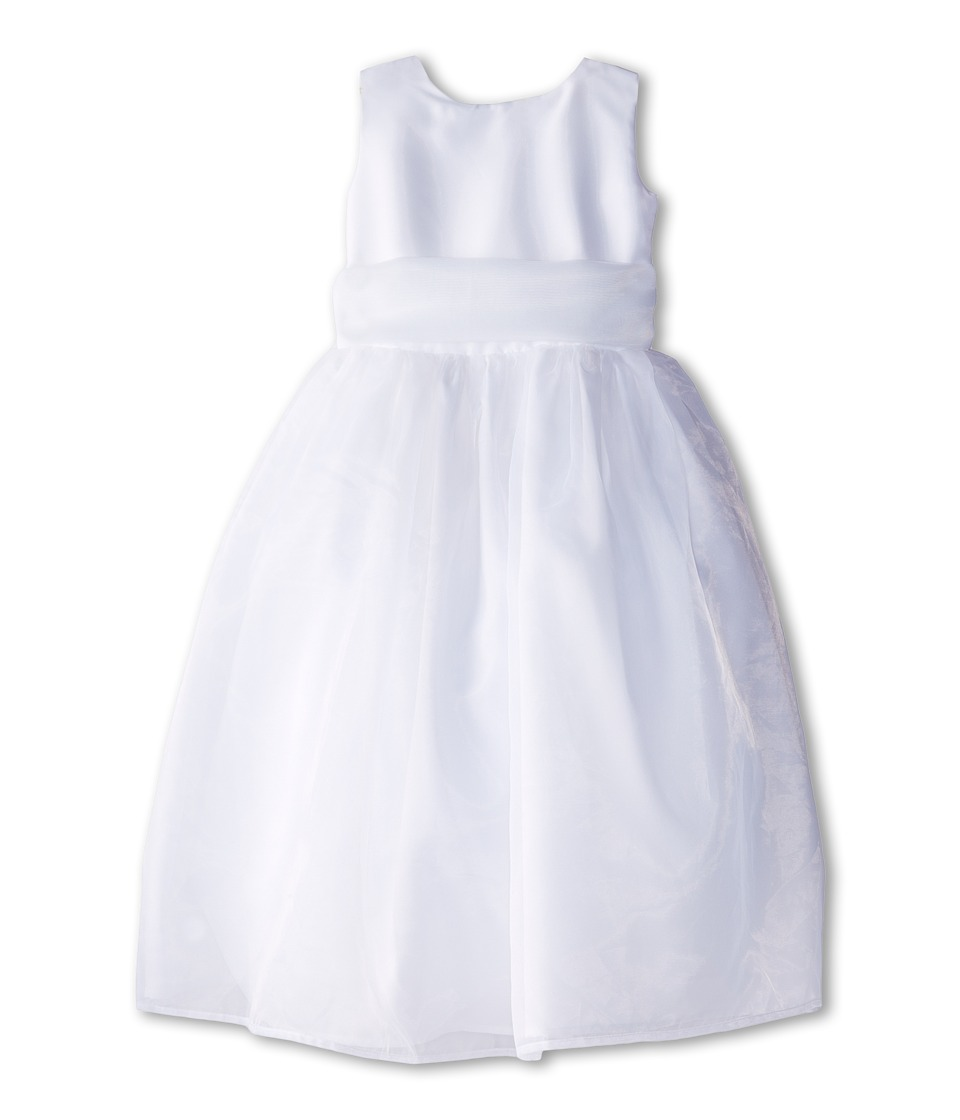 Us Angels - Sleeveless Organza Dress (Little Kids) (White 1) Girl