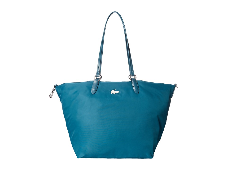 Lacoste - Izzie Medium Carry All Bag (Deep Teal) Handbags