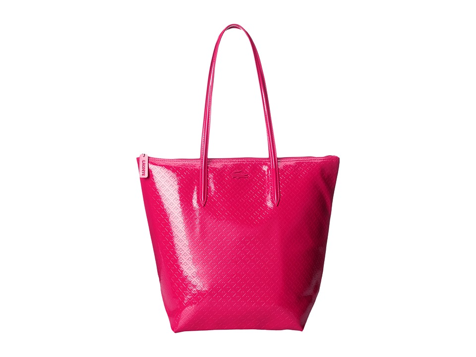 Lacoste - M1 Vertical Tote Bag (Cerise) Tote Handbags