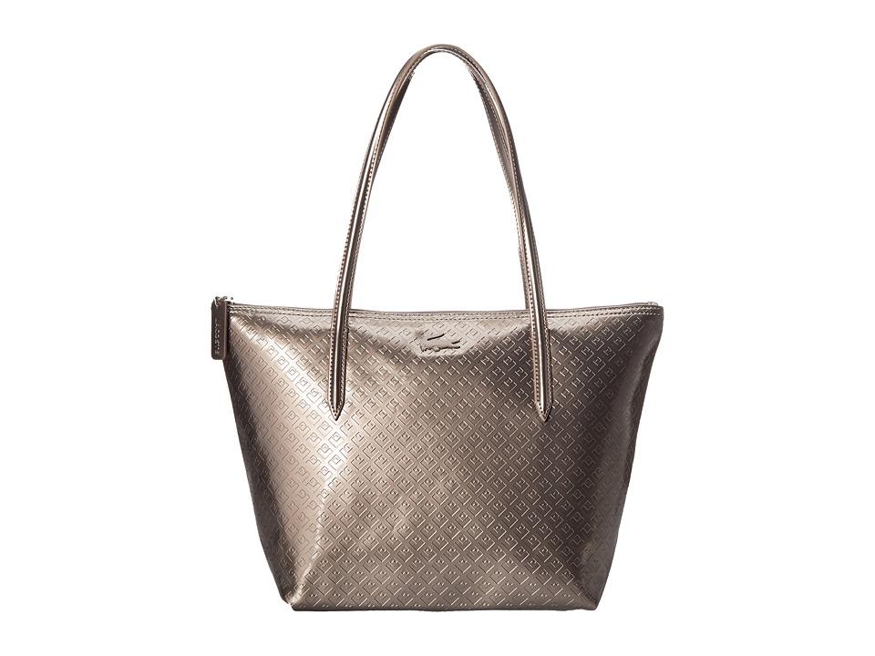 Lacoste - L.12.12 Concept Shiny Tote Bag (Cinder) Tote Handbags