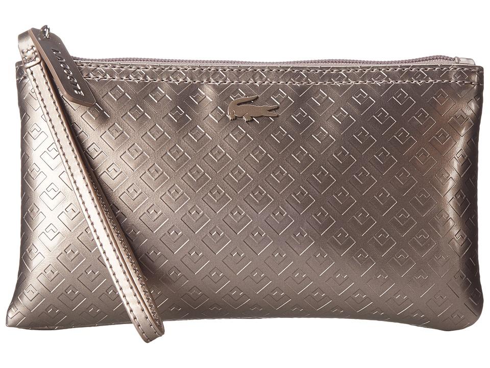 Lacoste - L.12.12 Concept Shiny Wristlet (Cinder) Wristlet Handbags