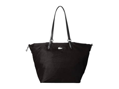 Lacoste - Izzie Medium Carry All Bag (Black) Handbags