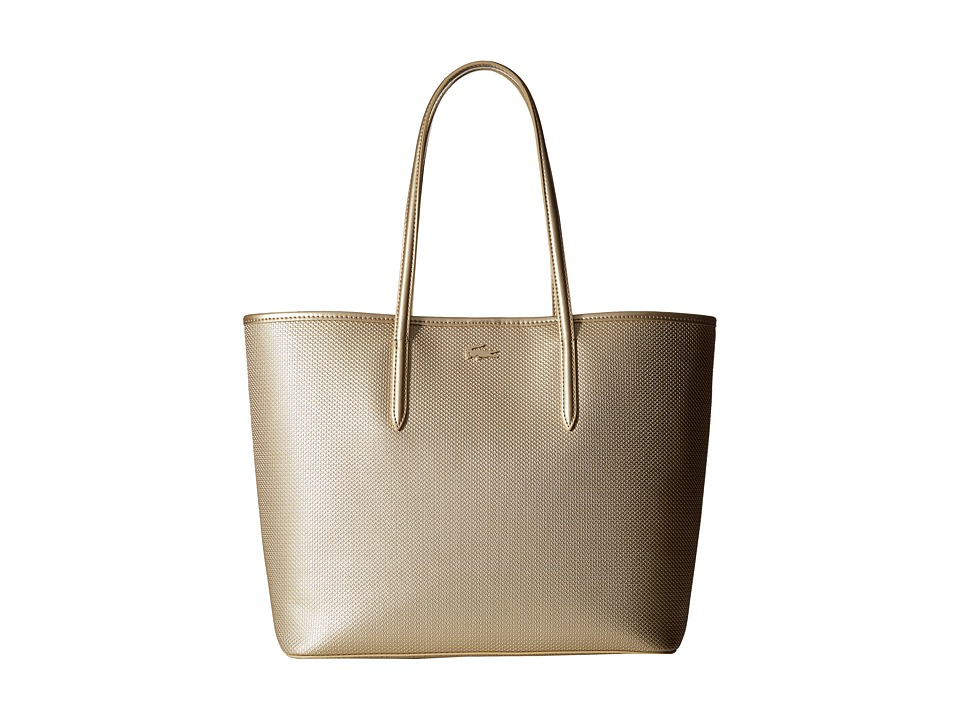 Lacoste - Chantaco Metallic Tote (Rich Gold) Tote Handbags