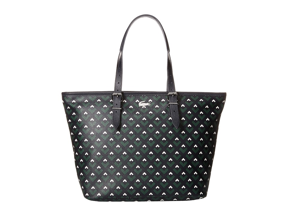 Lacoste - Nelly Medium Shopping Bag (Midnight Navy Lily White) Tote Handbags