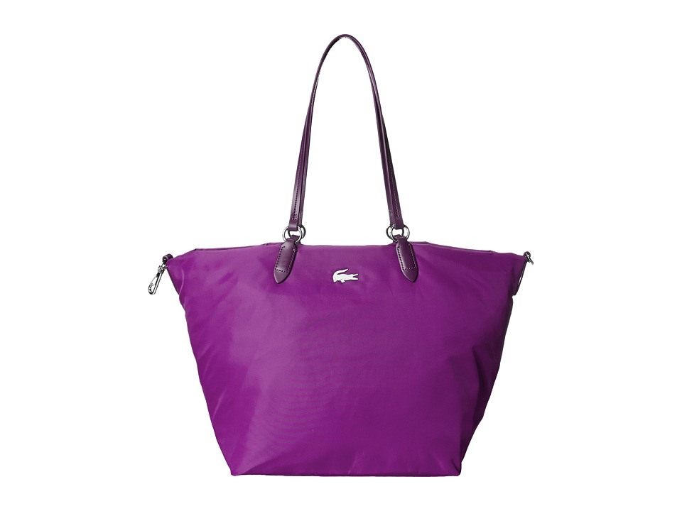 Lacoste - Izzie Medium Carry All Bag (Dark Purple) Handbags