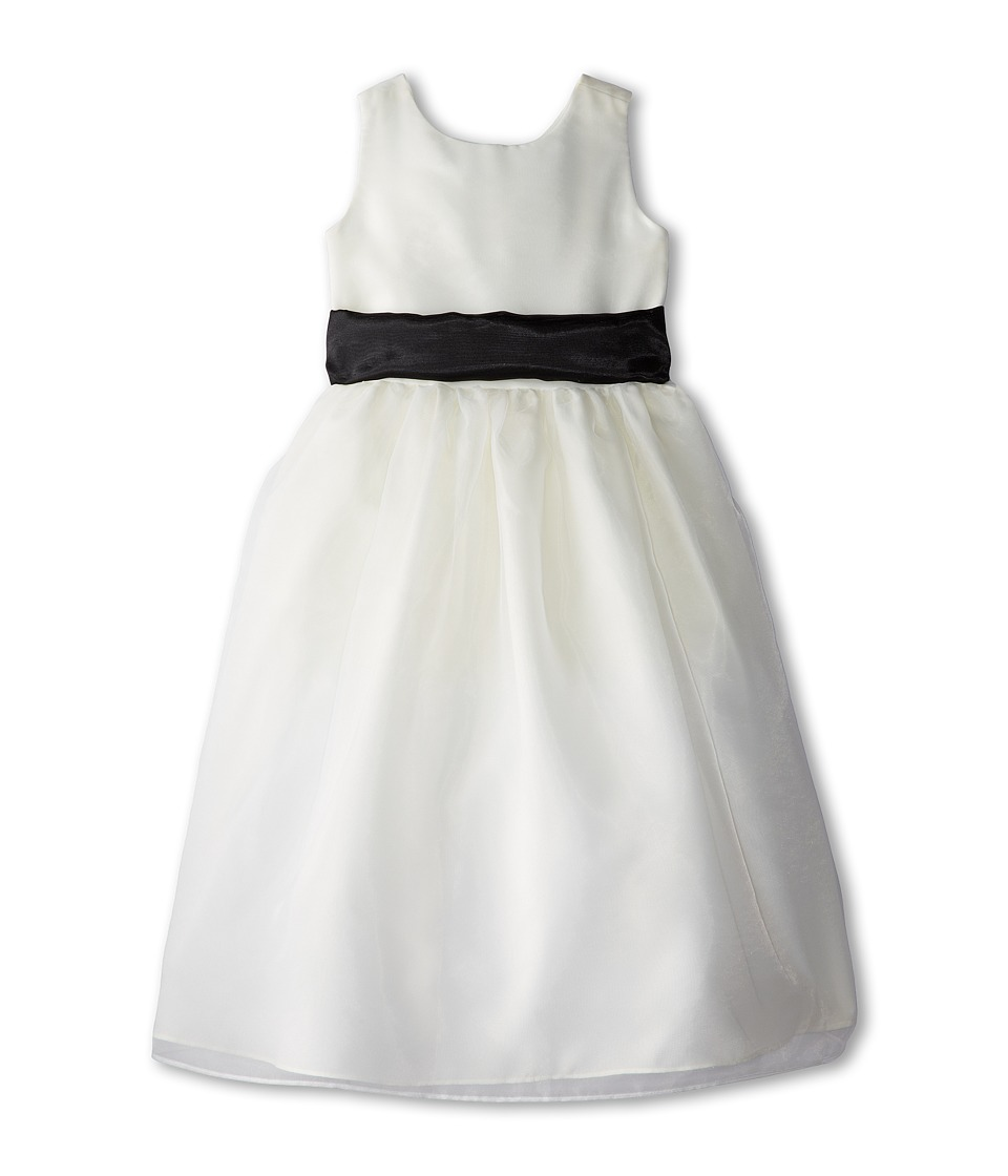 Us Angels - Sleeveless Organza Dress (Big Kids) (Black) Girl's Dress