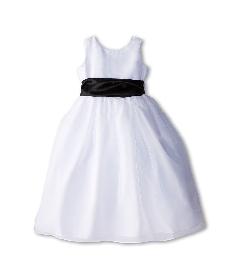Us Angels - Sleeveless Organza Dress (Big Kids) (Black 1) Girl's Dress