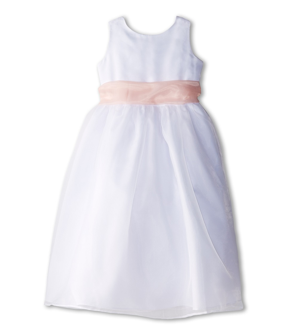 Us Angels - Sleeveless Organza Dress (Big Kids) (Blush Pink 1) Girl's Dress