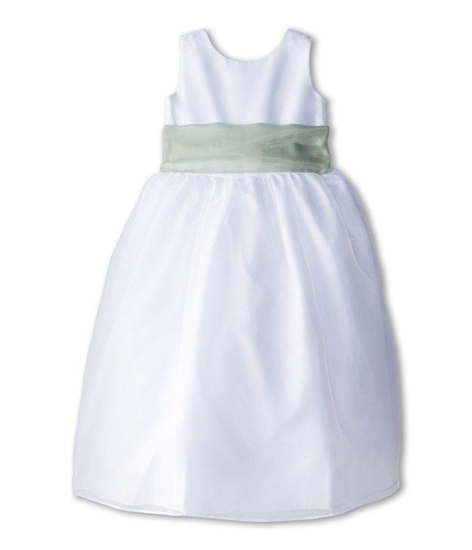 Us Angels - Sleeveless Organza Dress (Big Kids) (Lettuce Green) Girl