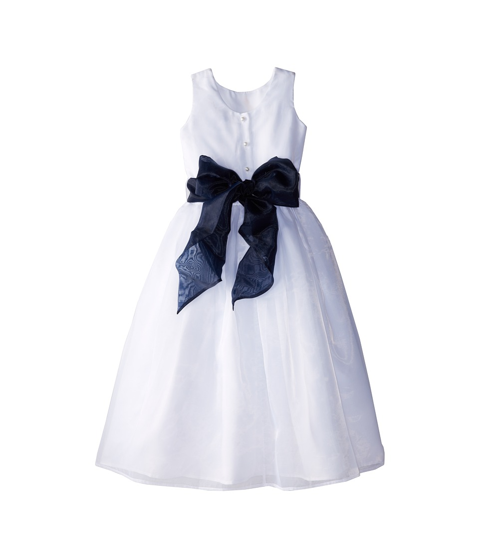 Us Angels - Sleeveless Organza Dress (Big Kids) (Navy) Girl's Dress
