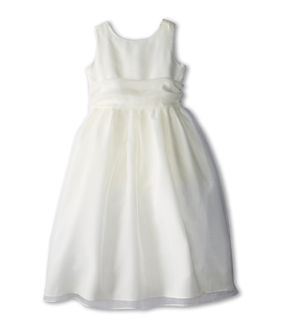 Us Angels - Sleeveless Organza Dress (Big Kids) (Ivory 1) Girl's Dress