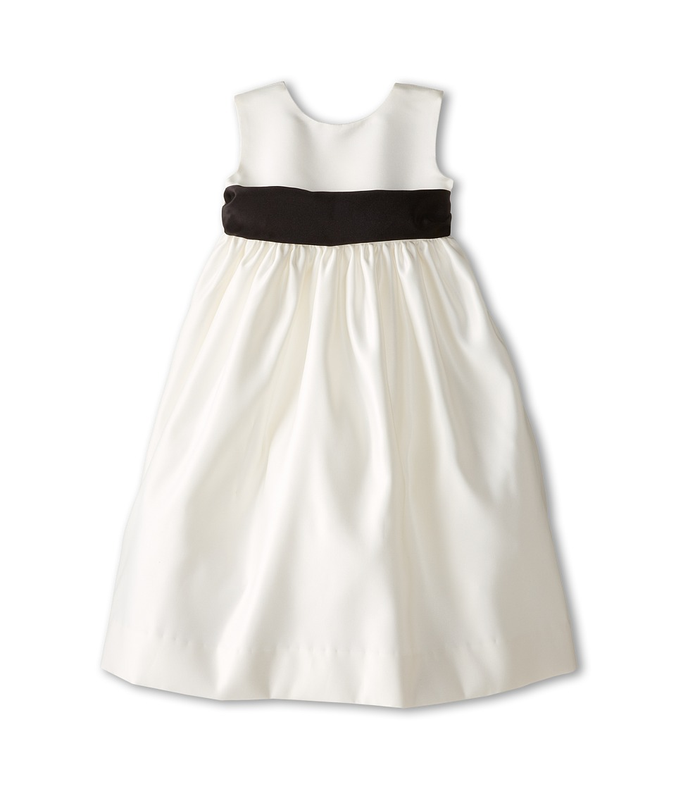 Us Angels - Sleeveless Satin Dress (Toddler) (Black) Girl's Dress