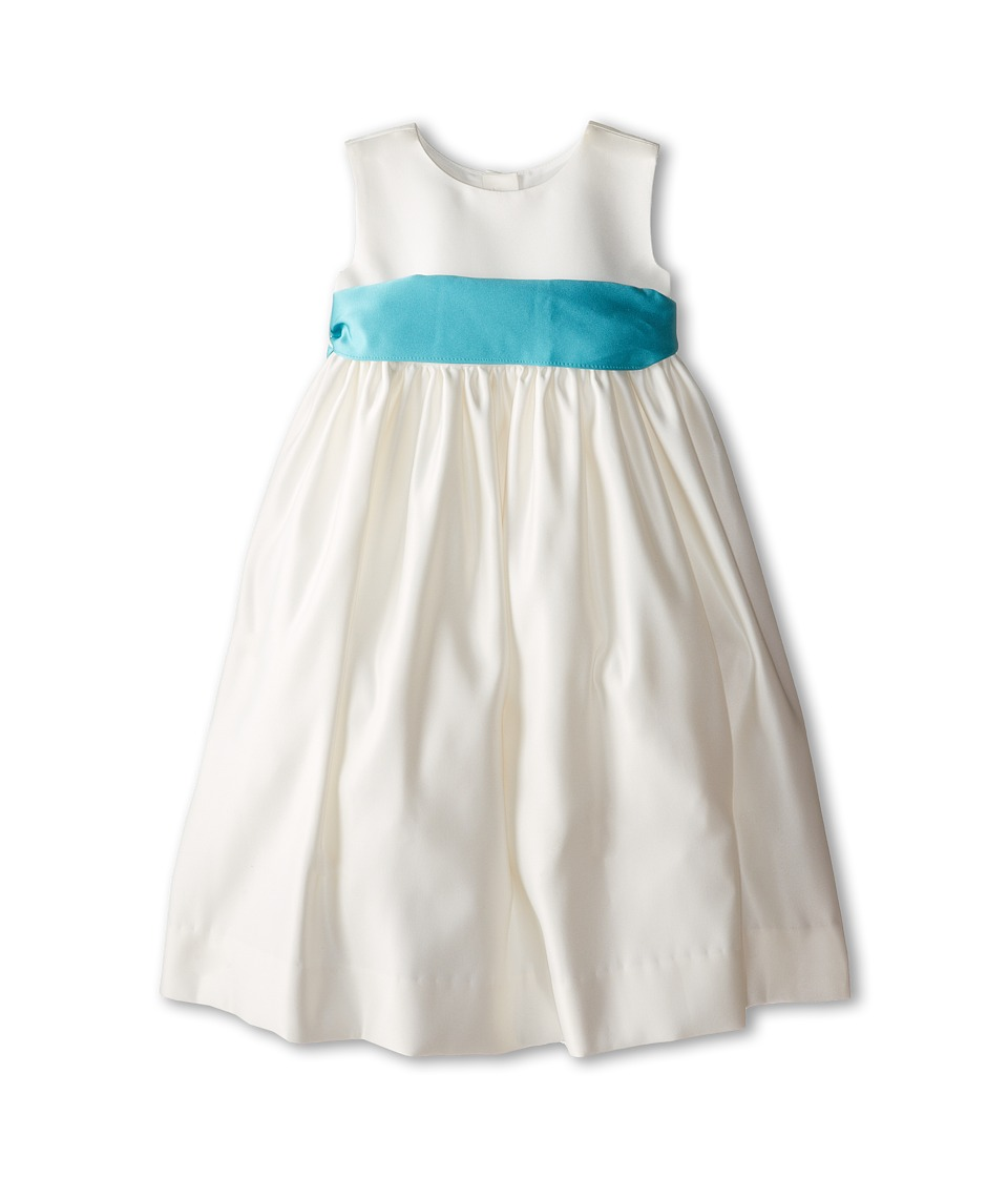 Us Angels - Sleeveless Satin Dress (Toddler) (Pool Water) Girl's Dress