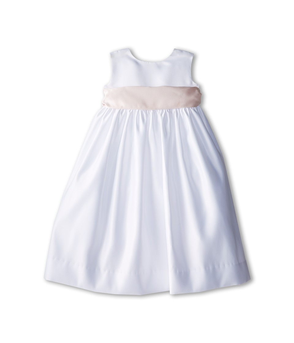 Us Angels - Sleeveless Satin Dress (Toddler) (Blush Pink 1) Girl's Dress