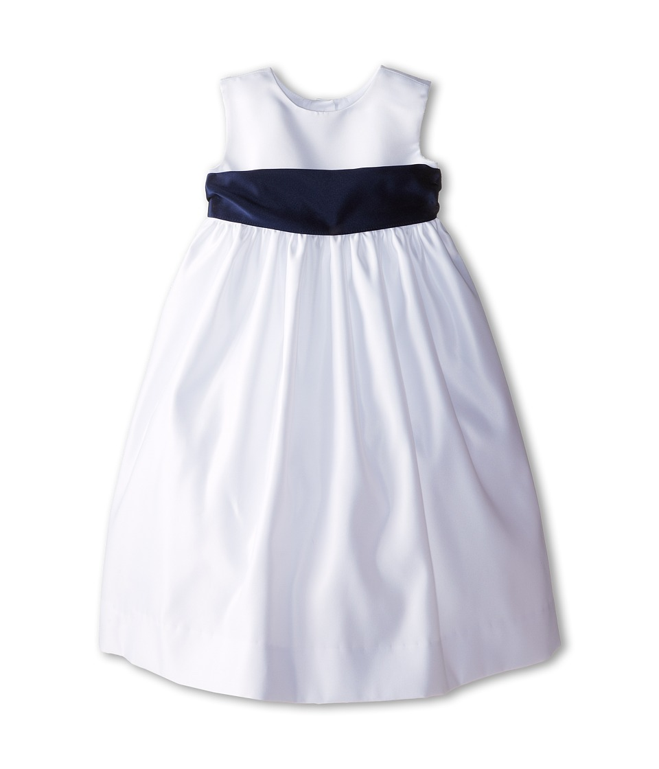 Us Angels - Sleeveless Satin Dress (Toddler) (Navy) Girl's Dress