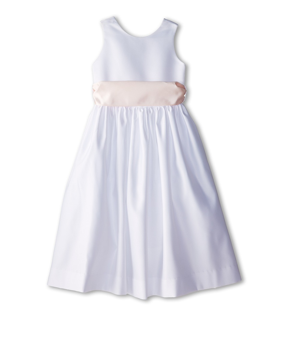 Us Angels - Sleeveless Satin Dress (Little Kids) (Blush Pink) Girl's Dress