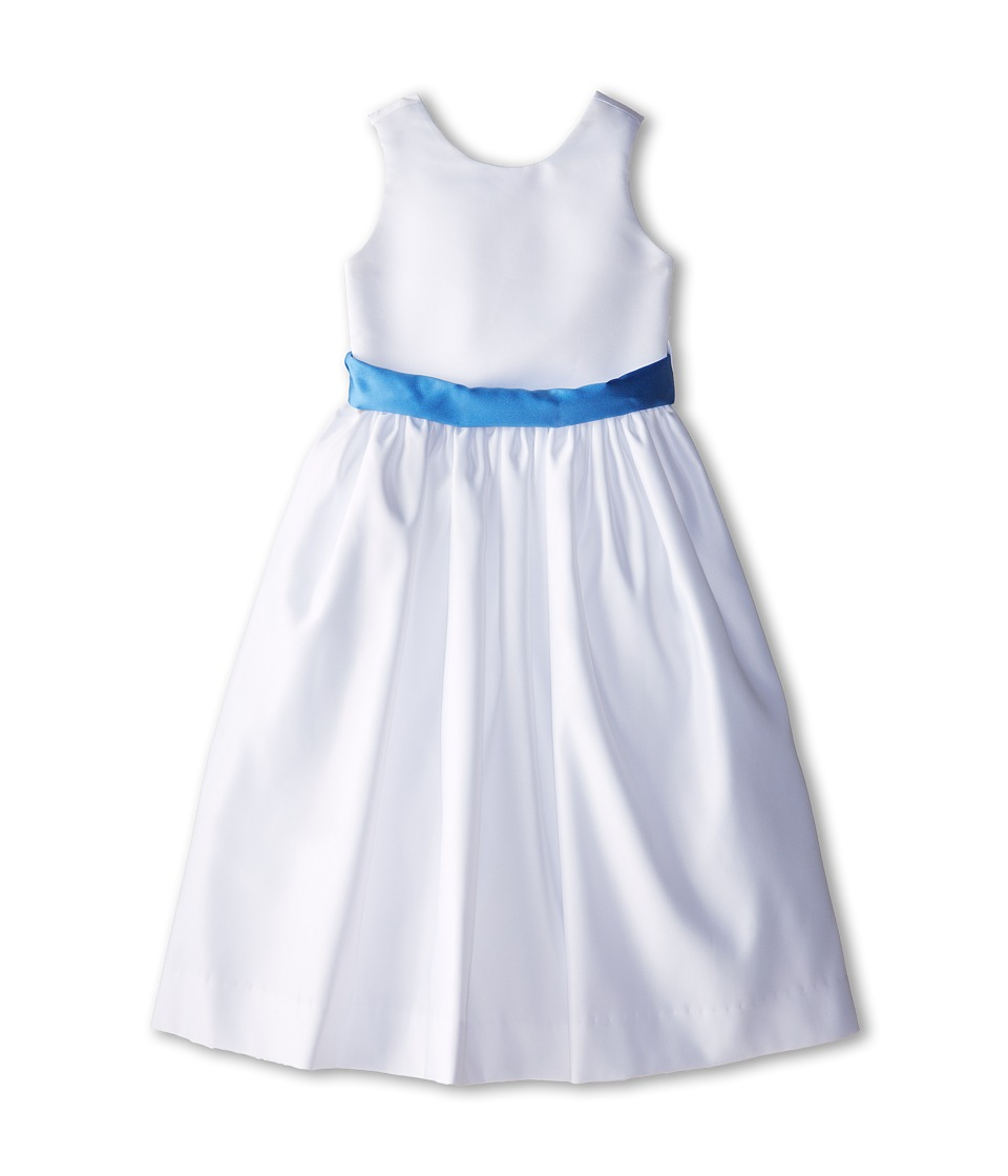 Us Angels - Sleeveless Satin Dress (Little Kids) (Cornflower) Girl's Dress