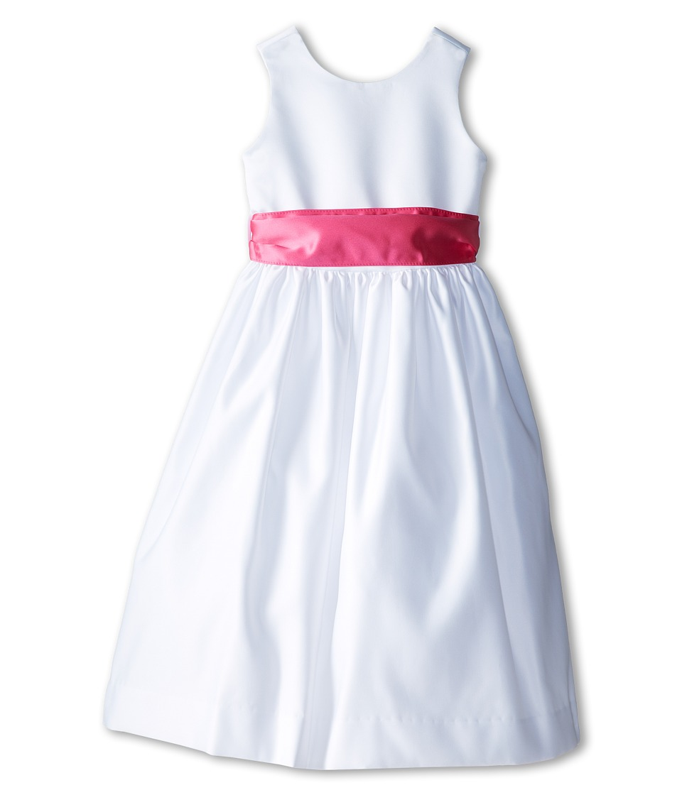 Us Angels - Sleeveless Satin Dress (Little Kids) (Fuchsia) Girl